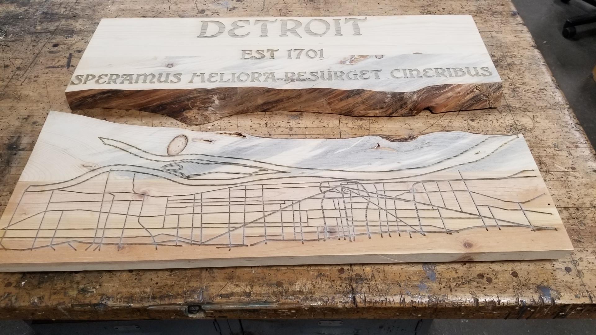 Detroit River Table Pre-Pour