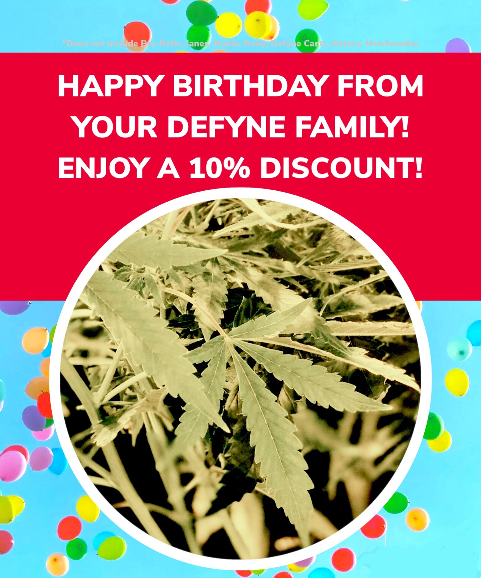 Come and see us on YOUR BIRTHDAY and receive 15% off! -