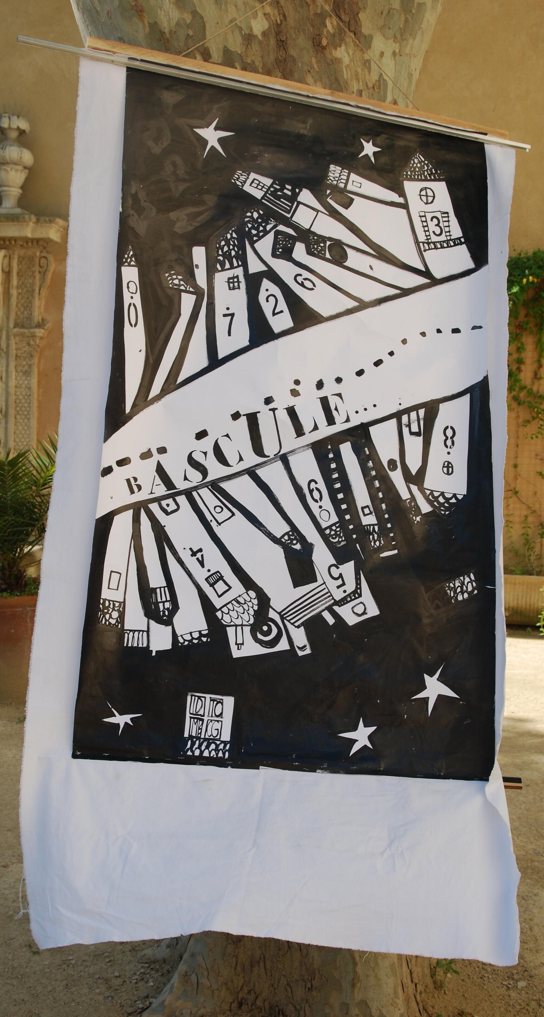 Dans ma ville il y a - Graphisme au calame sur plans et réalisation de grandes affiches