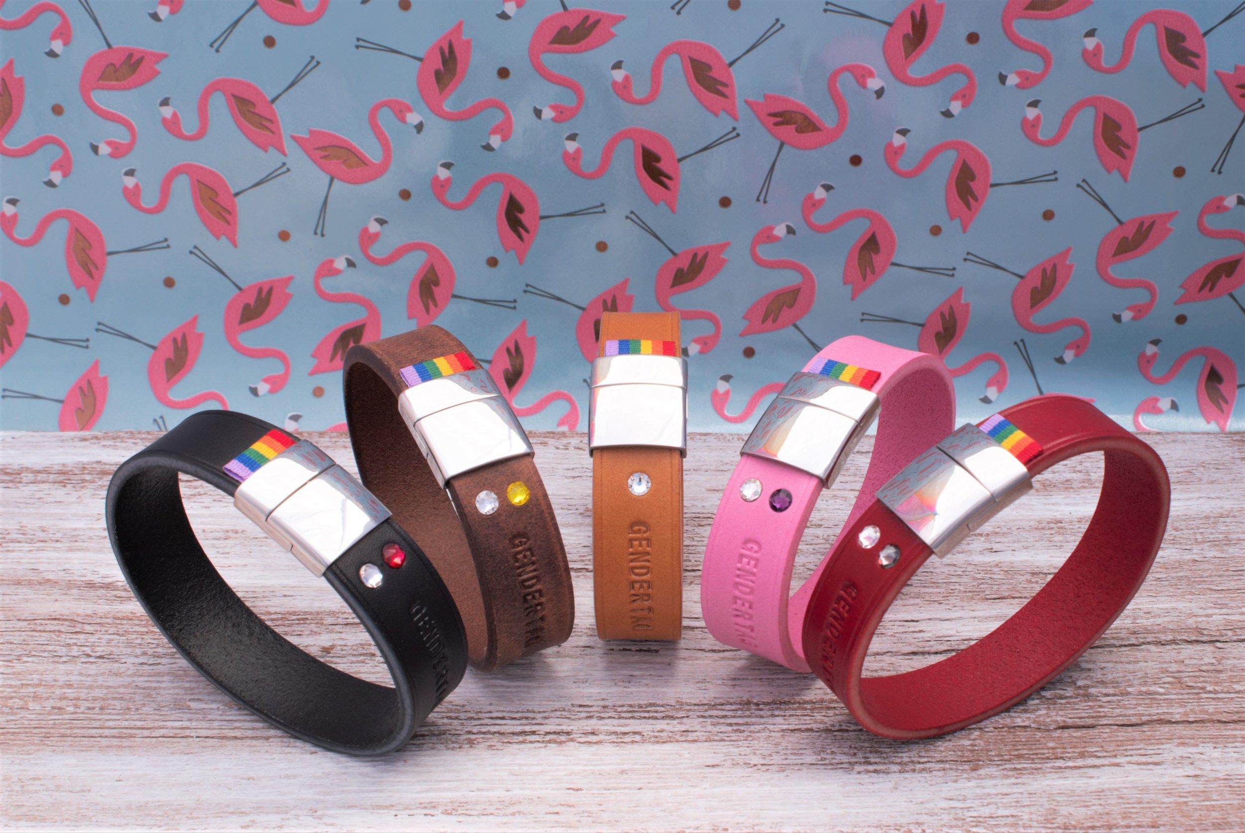 GENDERTAG Pride Leather Bracelets