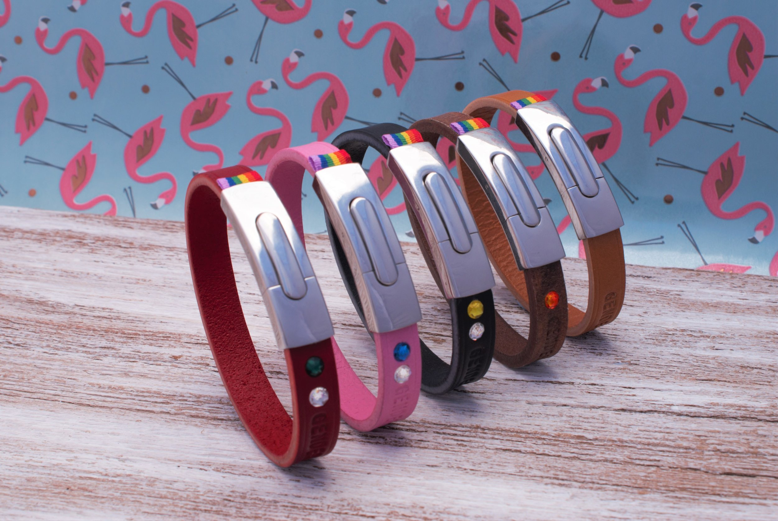 GENDERTAG Pride Leather Slim Bracelets
