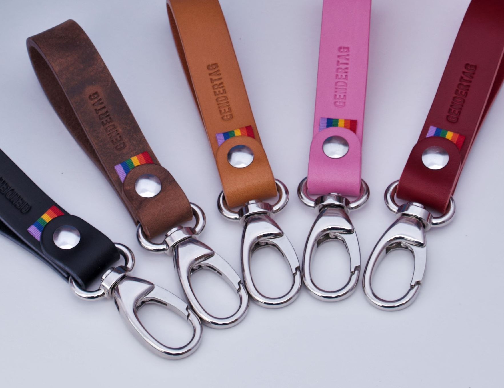 GENDERTAG Pride Leather Belt Loop Key Fob