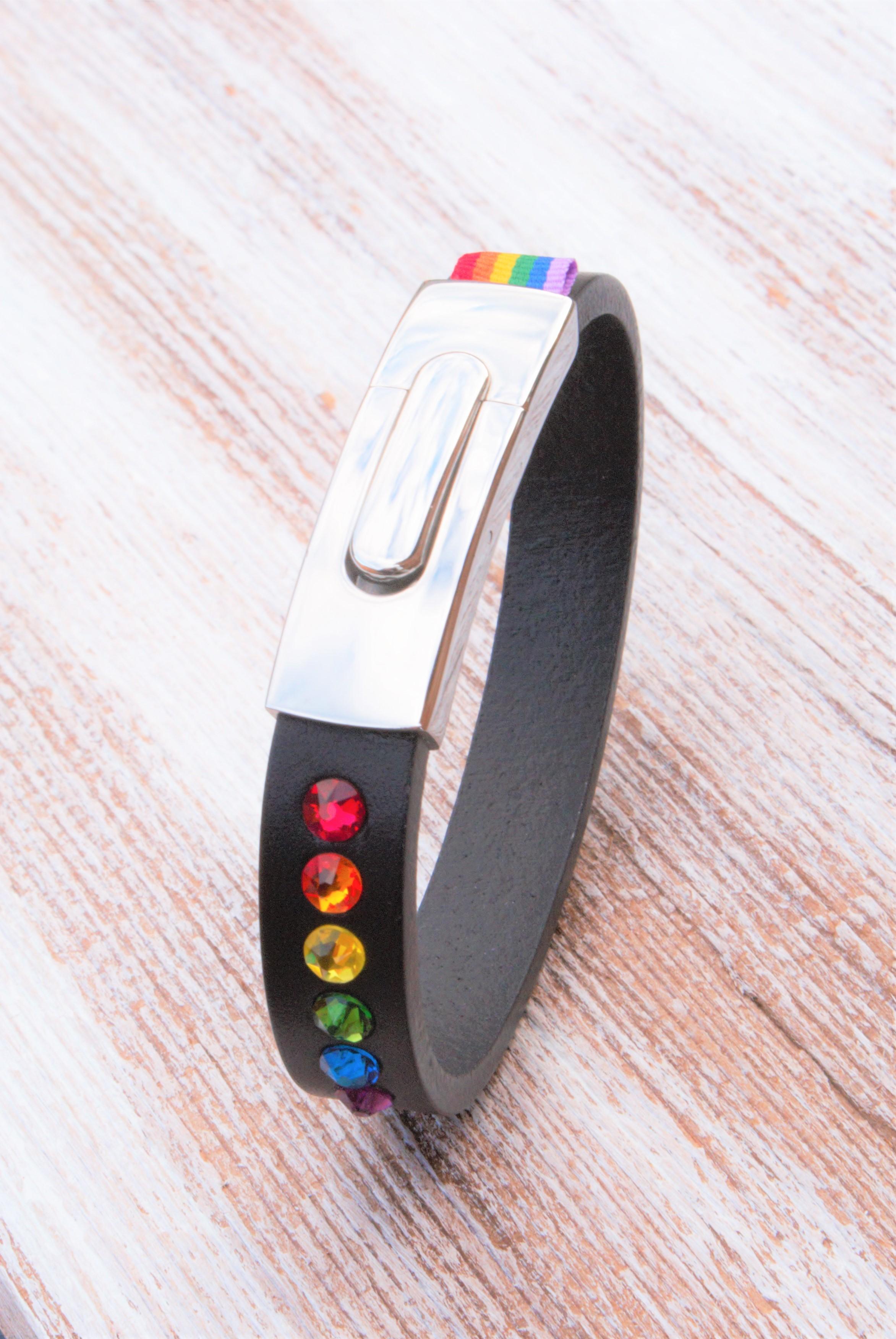 Black slim pride bracelet vertical DSC00675.jpg