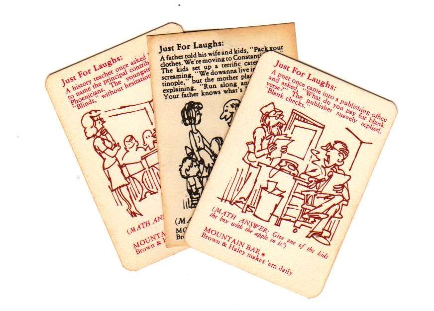 MOUNTAIN BAR TRIVIA CARDS