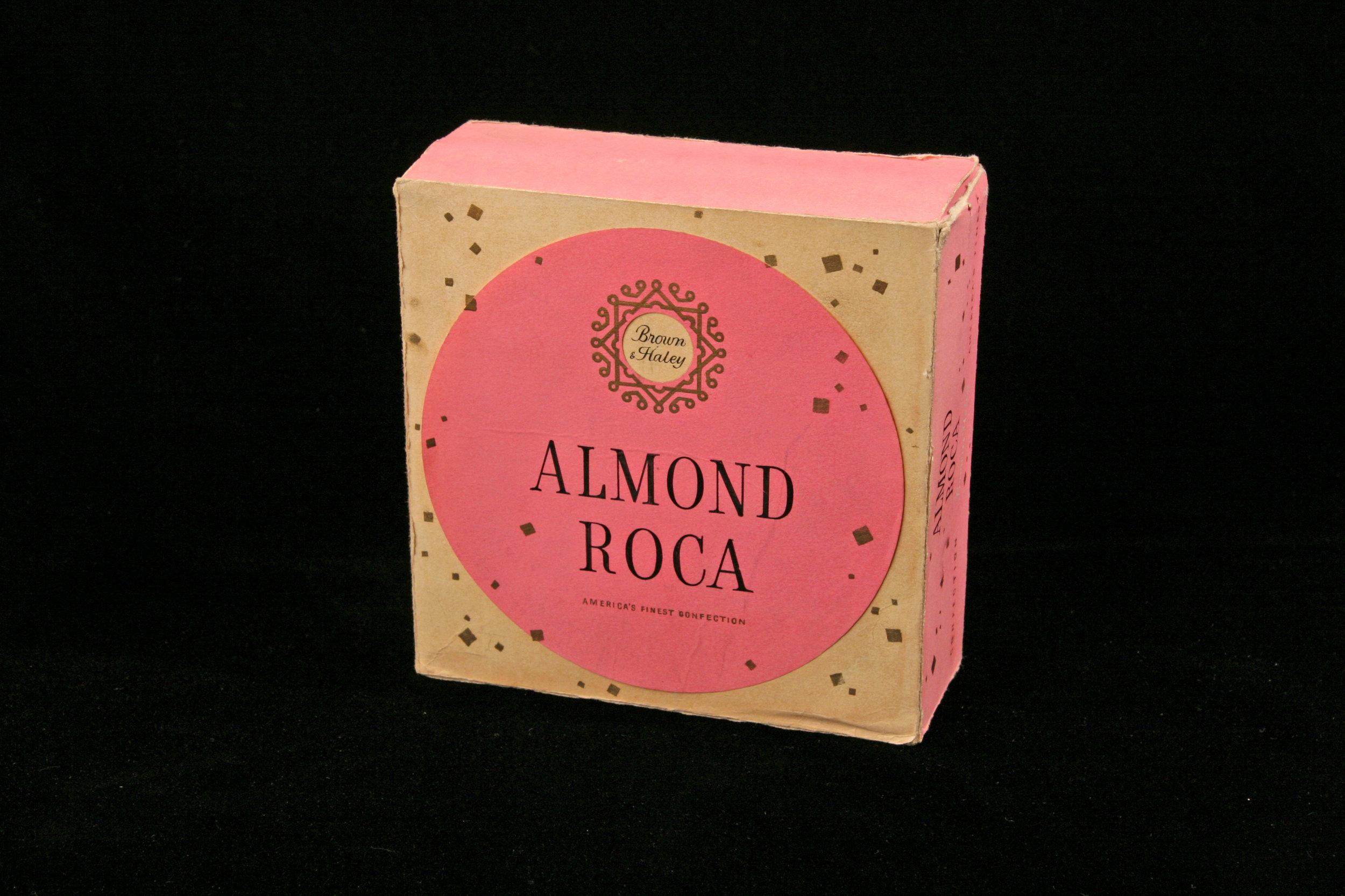 VINTAGE ALMOND ROCA BOX
