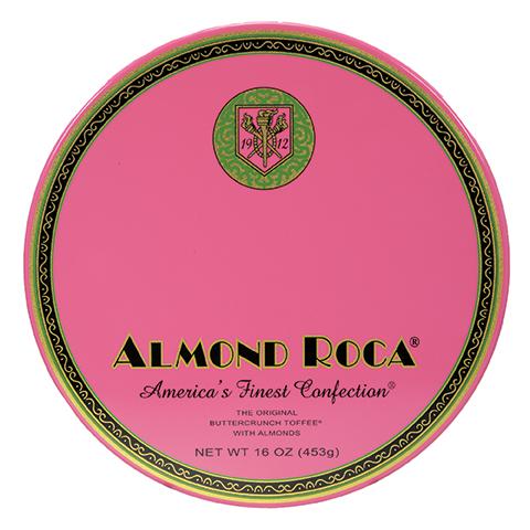 0386 16 OZ ALMOND ROCA® NOSTALGIA TIN - Straight-front View