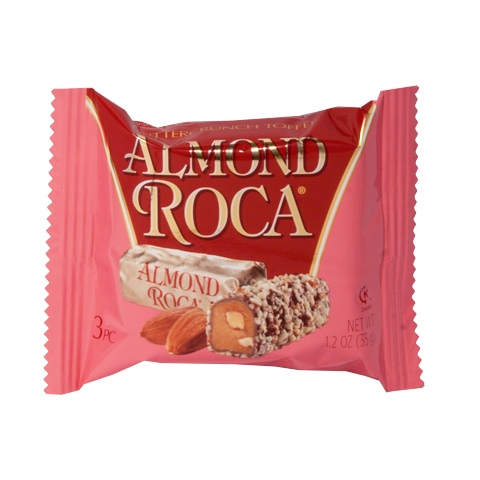 0423 1.2 oz 3 piece ALMOND ROCA® - Straight-front View
