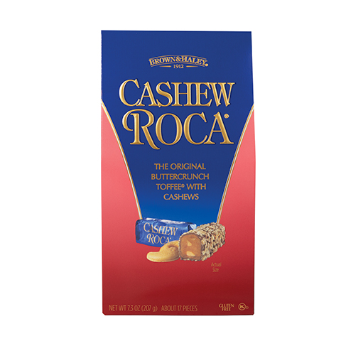 0391 7.3 oz Cashew ROCA® Gable Top Box - Straight-front View