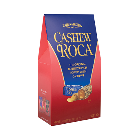 0391 7.3 oz Cashew ROCA® Stand-up box - Right-Facing View