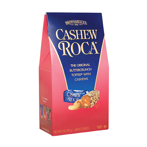 0582 5 oz Cashew ROCA® Stand-up Box - Right-facing View