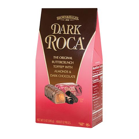 0363 5 oz DARK ROCA® Stand-up Box - Left-facing View