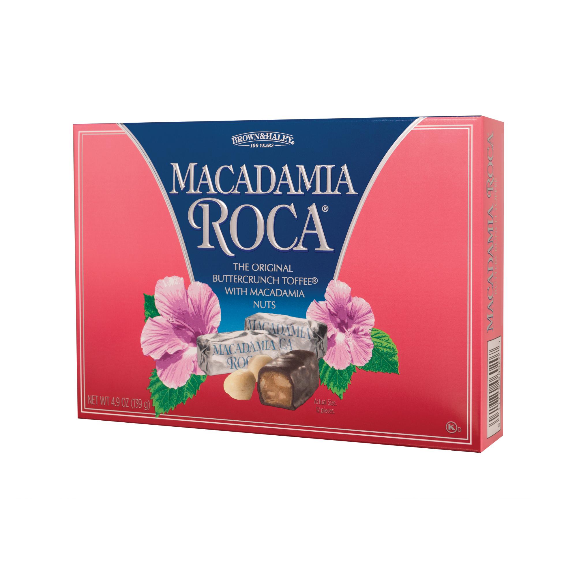 0602 4.9 oz MACADAMIA ROCA® Gift Box - Left-facing View