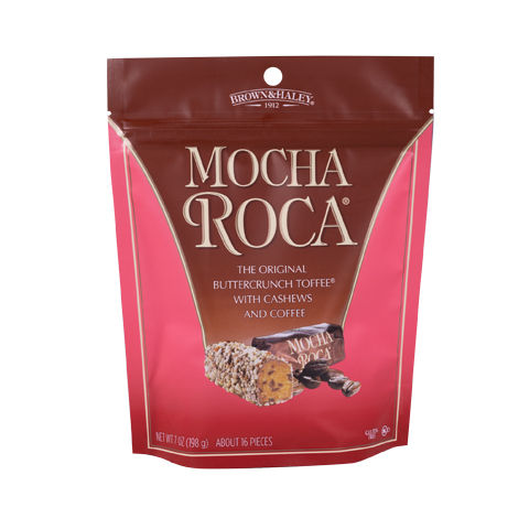 0807 7 oz MOCHA ROCA® Stand-up Pouch - Straight-front View
