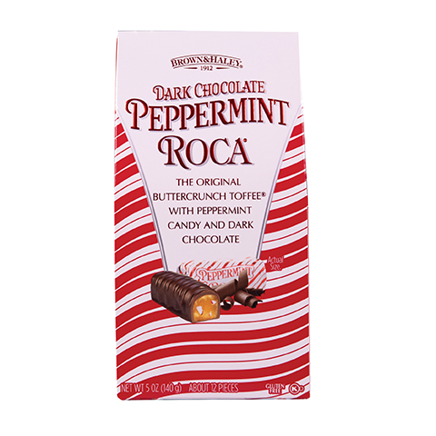 5943 5 oz DARK CHOCOLATE PEPPERMINT ROCA® - Straight-front View