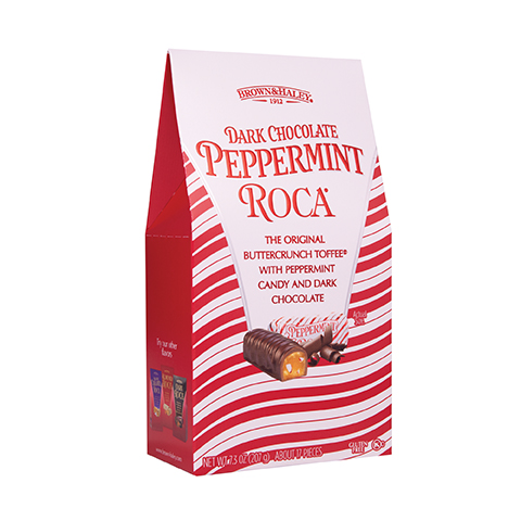5943 5 oz DARK CHOCOLATE PEPPERMINT ROCA® - Right-facing View