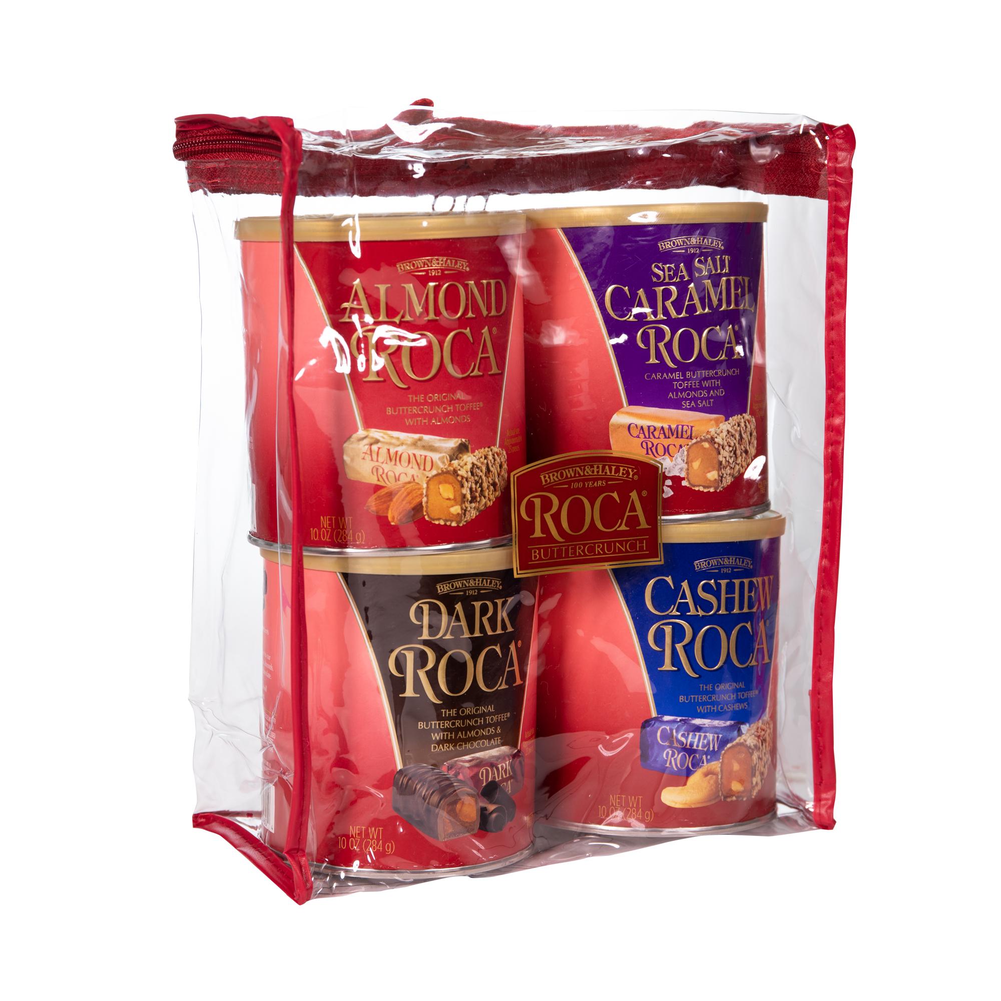 0675 40 oz Four Flavor Tote: ALMOND ROCA®,SEA SALT CARAMEL ROCA®, DARK ROCA®,CASHEW ROCA® - Right-facing View