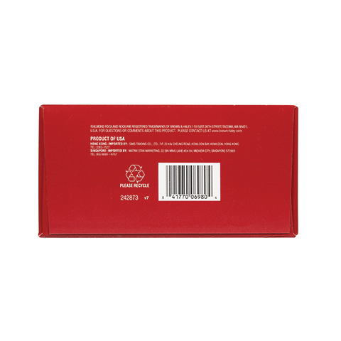 0698 20 oz Assorted Stand-up Box:SEA SALT CARAMEL ROCA®,ALMOND ROCA®,DARK ROCA® - Bottom View