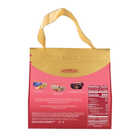 5970 12 oz Purse Pack: CASHEW ROCA®, ALMOND ROCA®, DARK ROCA® - Back-side View
