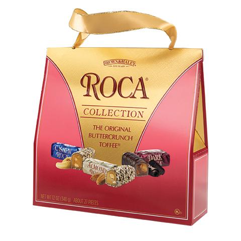 5970 12 oz Purse Pack: CASHEW ROCA®, ALMOND ROCA®, DARK ROCA® - Left-facing View