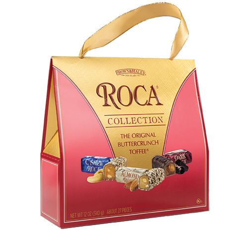 5970 12 oz Purse Pack: CASHEW ROCA®, ALMOND ROCA®, DARK ROCA® - Right-facing View