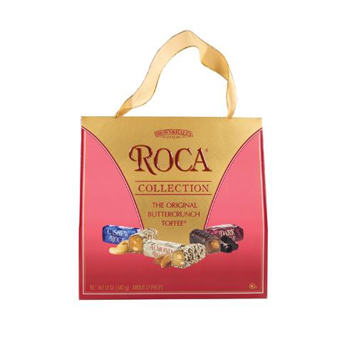 5970 12 oz Purse Pack: CASHEW ROCA®, ALMOND ROCA®, DARK ROCA® - Straight-front View