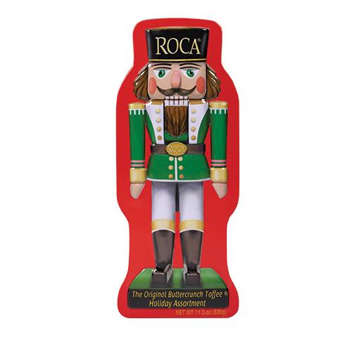 5945 11.3 oz Nutcracker Tin: Almond ROCA®, Dark ROCA® - Straight-front View