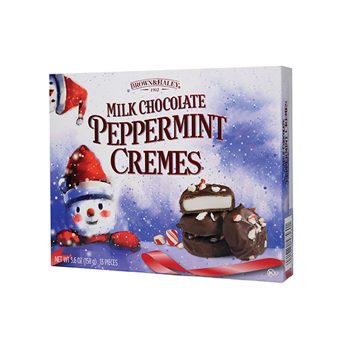5856 5.6 oz Milk Chocolate PEPPERMINT CREMES - Left-facing View