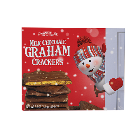 5858 5.6 oz CHOCOLATE COVERED GRAHAM CRACKERS Gift Box - Straight-front View