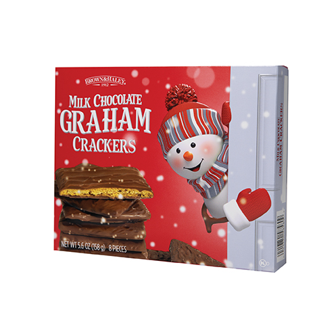 5858 5.6 oz CHOCOLATE COVERED GRAHAM CRACKERS Gift Box - Left-facing View