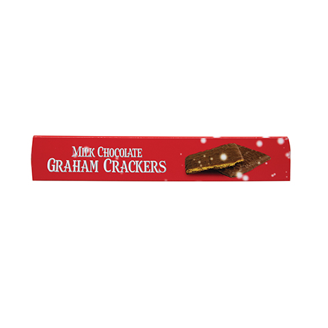 5858 5.6 oz CHOCOLATE COVERED GRAHAM CRACKERS Gift Box - Top View
