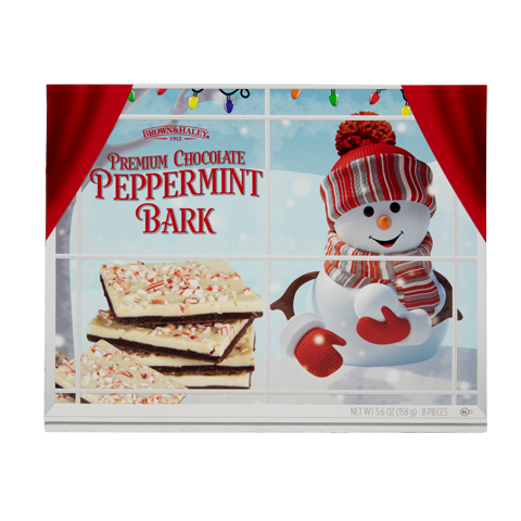 5850 5.6 oz Two Tone PEPPERMINT BARK - Straight-front View