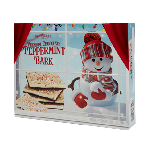 5850 5.6 oz Two Tone PEPPERMINT BARK - Left-facing View