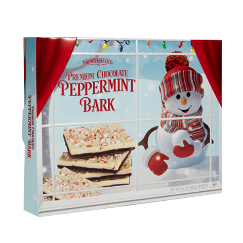 5850 5.6 oz Two Tone PEPPERMINT BARK - Right-facing View