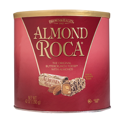 0524 42oz Almond ROCA® Canister - Straight-front View