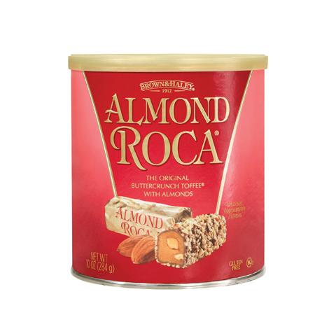 0568 10 oz ALMOND ROCA® Canister - Straight-front View