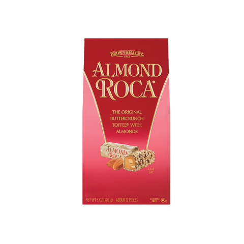 0581 5 oz ALMOND ROCA® Stand-up Box - Straight-front View