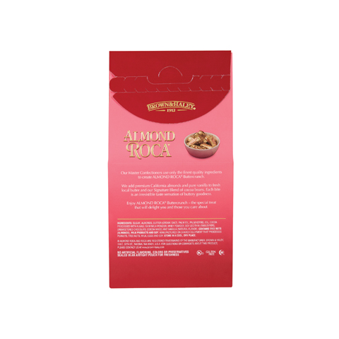 0581 5 oz ALMOND ROCA® Stand-up Box - Back-side View