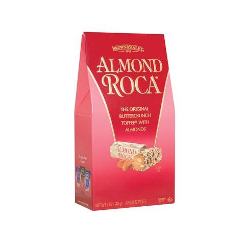 0581 5 oz ALMOND ROCA® Stand-up Box - Right-facing View