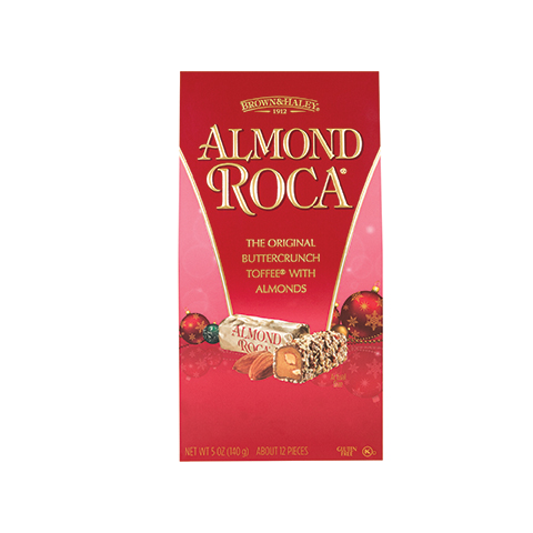 5328 5 oz ALMOND ROCA® Holiday Stand-up Box - Straight-front View