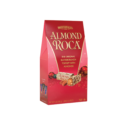 5328 5 oz ALMOND ROCA® Holiday Stand-up Box - Right-facing View