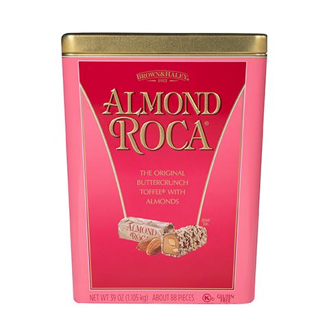 5930 39 oz ALMOND ROCA® Tin - Straight-front View