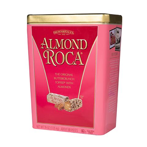 5930 39 oz ALMOND ROCA® Tin - Left-facing View