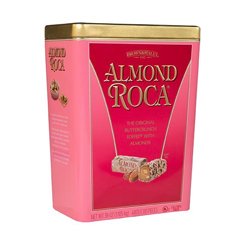 5930 39 oz ALMOND ROCA® Tin - Right-facing View