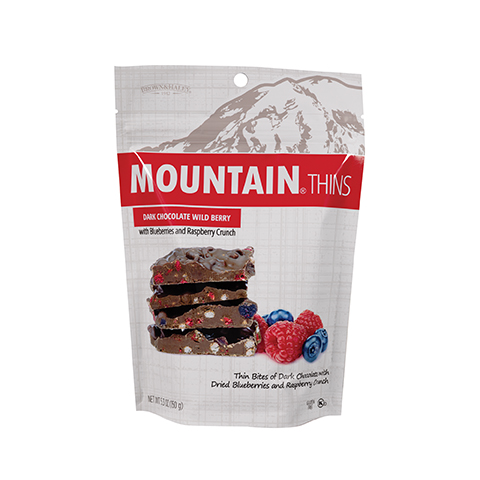 3336 5.3 oz Wild Berry Mountain® Thins Stand-up Pouch - Straight-front View