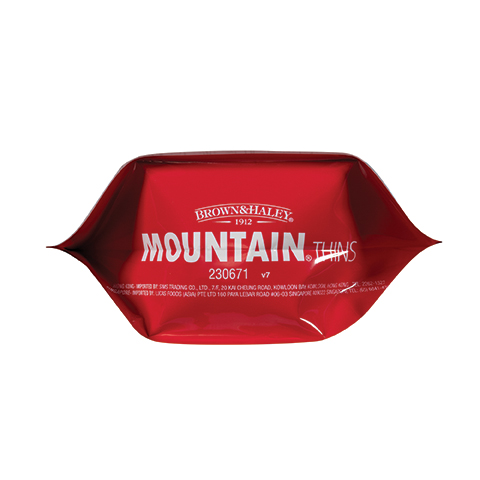 3336 5.3 oz Wild Berry Mountain® Thins Stand-up Pouch - Bottom View