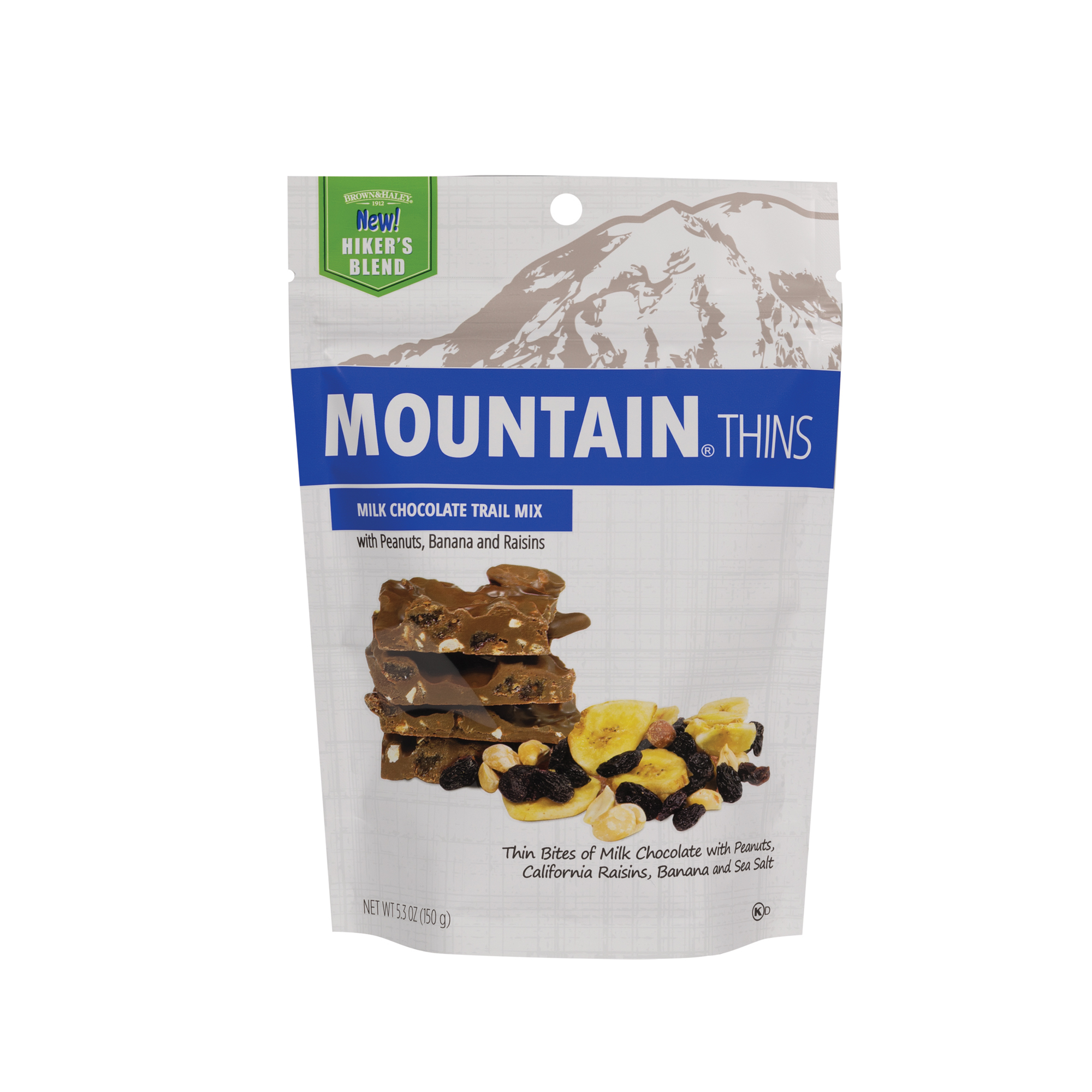 3337 5.3 oz Trail Mix Mountain® Thins Stand-up Pouch - Straight-front View