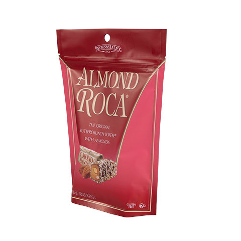 0805 7 oz ALMOND ROCA® Stand-up Pouch - Left-facing View