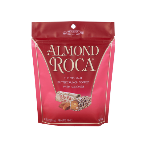 0805 7 oz ALMOND ROCA® Stand-up Pouch - Straight-front View