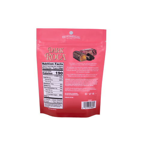0805 7 oz ALMOND ROCA® Stand-up Pouch - Back-side View