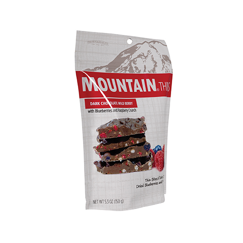 3336 5.3 oz Wild Berry Mountain® Thins Stand-up Pouch - Left-facing View